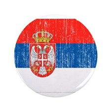"Serbia Flag 3.5"" Button (100 pack)"