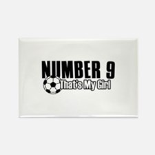 Proud soccer parent of number 9 Rectangle Magnet