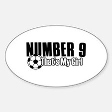 Proud soccer parent of number 9 Decal
