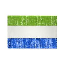 Sierra Leone Flag Rectangle Magnet