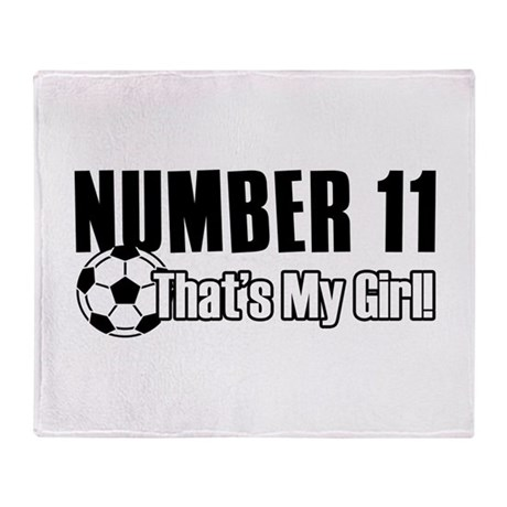 Proud soccer parent of number 11 Throw Blanket