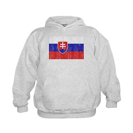 Slovakia Flag Kids Hoodie