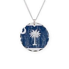 South Carolina Flag Necklace