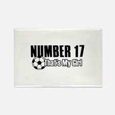 Proud soccer parent of number 17 Rectangle Magnet