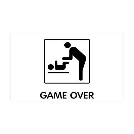 Game Over 35x21 Wall Decal
