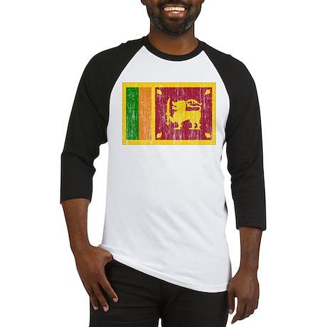 Sri Lanka Flag Baseball Jersey
