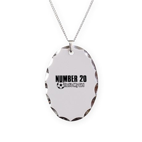 Proud soccer parent of number 20 Necklace Oval Cha
