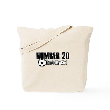 Proud soccer parent of number 20 Tote Bag