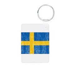 Sweden Flag Aluminum Photo Keychain