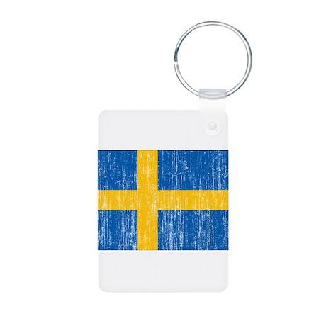 Sweden Flag Aluminum Photo Keychain