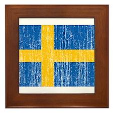 Sweden Flag Framed Tile
