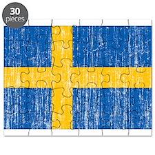 Sweden Flag Puzzle