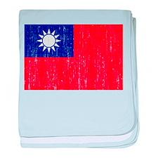 Taiwan Flag baby blanket