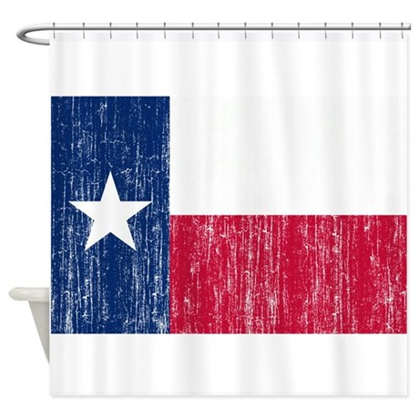 Texas Flag Shower Curtain By Agedflags