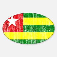 Togo Flag Sticker (Oval)
