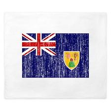 Turks and Caicos Flag King Duvet