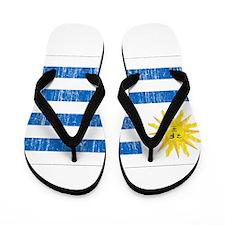 Uruguay Flag Flip Flops