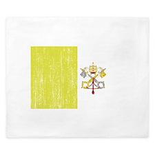 Vatican City Flag King Duvet