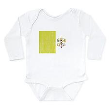 Vatican City Flag Long Sleeve Infant Bodysuit