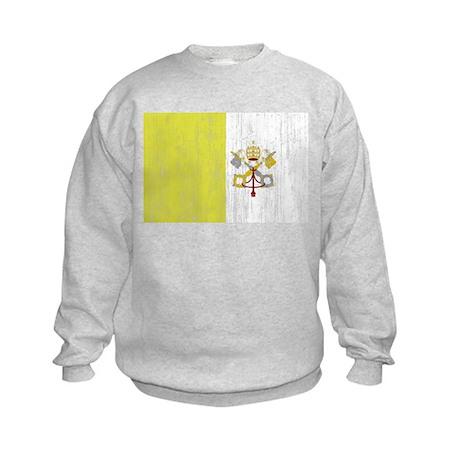 Vatican City Flag Kids Sweatshirt