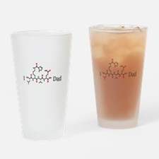 I Love Dad molecularshirts.com Drinking Glass