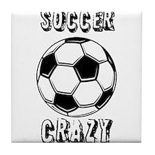 Soccer crazy Tile Coaster