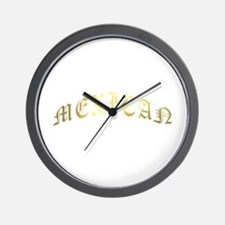 mexican gold Wall Clock
