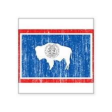 "Wyoming Flag Square Sticker 3"" x 3"""