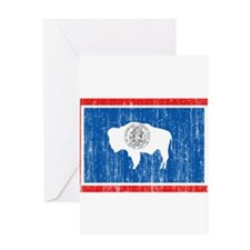 Wyoming Flag Greeting Card