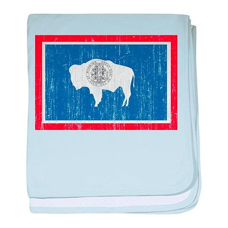 Wyoming Flag baby blanket
