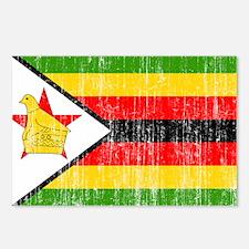 Zimbabwe Flag Postcards (Package of 8)