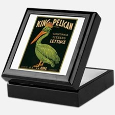 King Pelican Label Keepsake Box