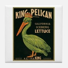 King Pelican Label Tile Coaster