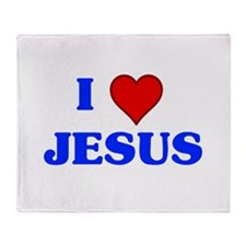 I heart jesus Throw Blanket