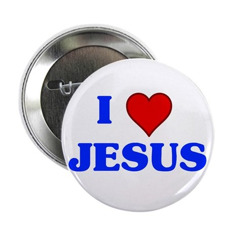 """I heart Jesus button.png 2.25"""" Button (10 pack)"""