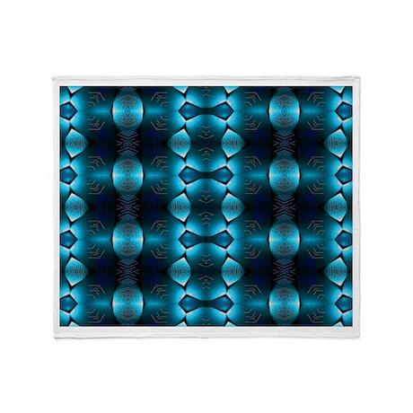 Blue Light Glow Throw Blanket