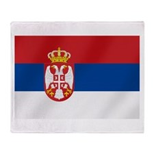 Flag of Serbia Throw Blanket