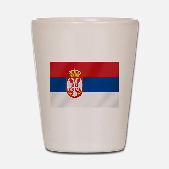 Flag of Serbia Shot Glass