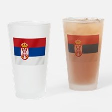 Flag of Serbia Drinking Glass
