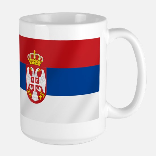 Flag of Serbia Large Mug