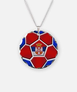 Serbia Football Necklace