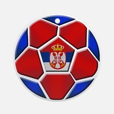 Serbia Football Ornament (Round)