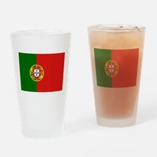 Portuguese Flag Drinking Glass