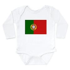 Portuguese Flag Long Sleeve Infant Bodysuit