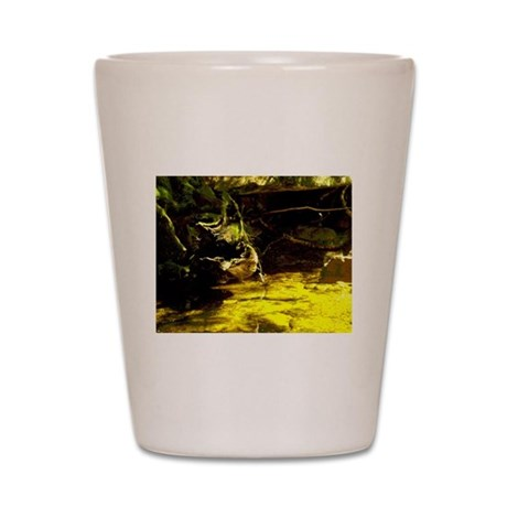 mad river gold Shot Glass