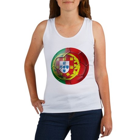 Portuguese Soccer Ball Women's Tank Top