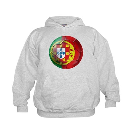Portuguese Soccer Ball Kids Hoodie