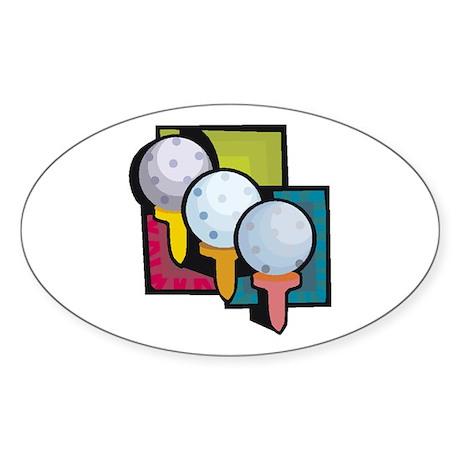 Golf36 Oval Sticker