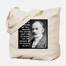 Hardy Emotion Quote 2 Tote Bag