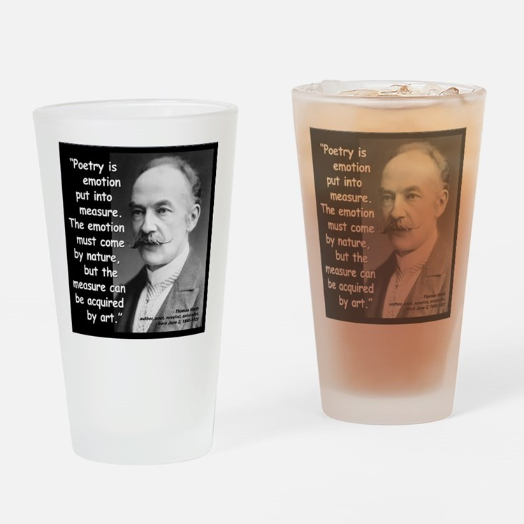 Hardy Emotion Quote 2 Drinking Glass